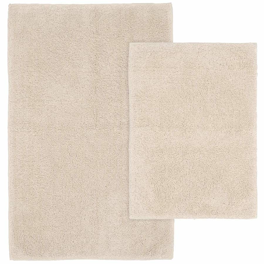 Natural Bathroom Rugs: Traditional Queen Set Of 2 Natural Cotton Bath Rug At