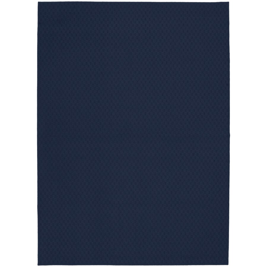 Garland Town Square 6 X 9 Indigo Indoor Solid Area Rug In The Rugs Department At Lowes Com