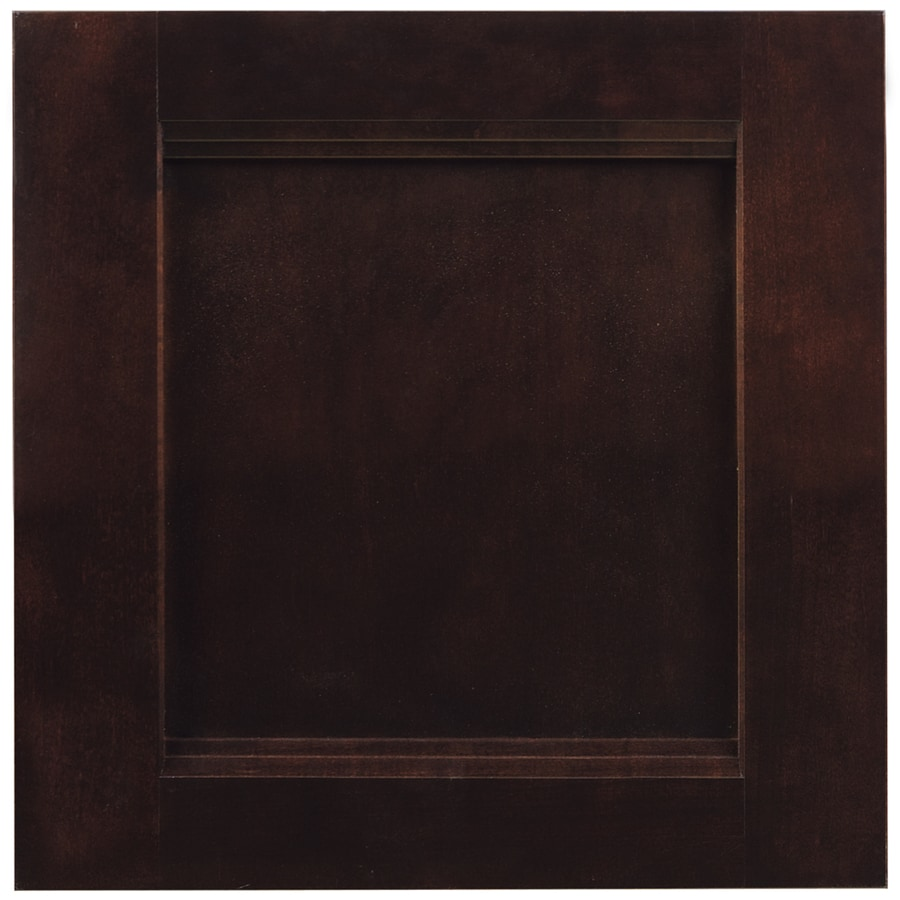 Shenandoah Solana 14.5-in x 14.5625-in Java Cherry Square Cabinet Sample