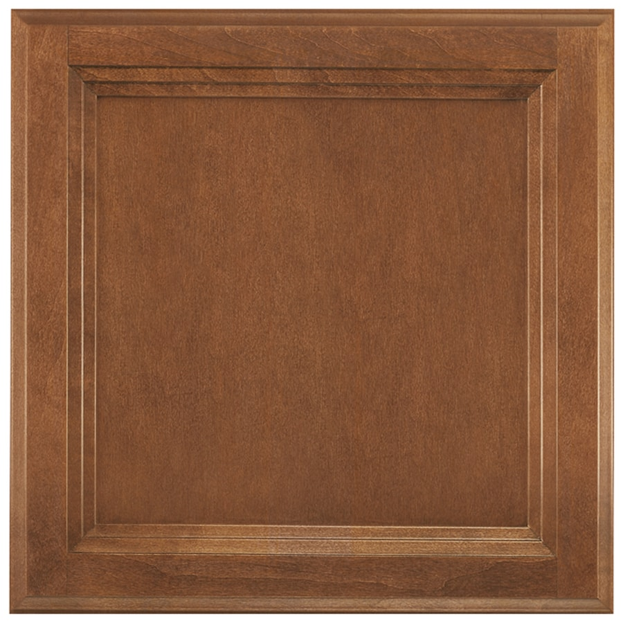 Shenandoah Dominion 13-in x 12.875-in Cognac Stained Maple Square Cabinet Sample