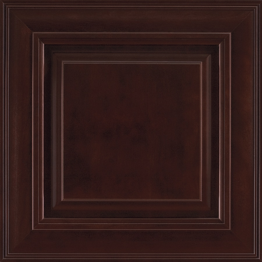 Shenandoah McKinley 14.5625-in x 14.5-in Java Cherry Raised Panel Cabinet Sample