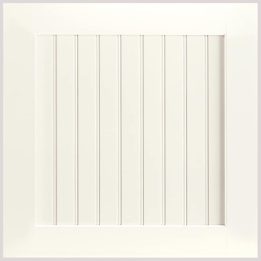 Shenandoah Cottage 14.5625-in x 14.5-in Linen Maple Beadboard Cabinet Sample