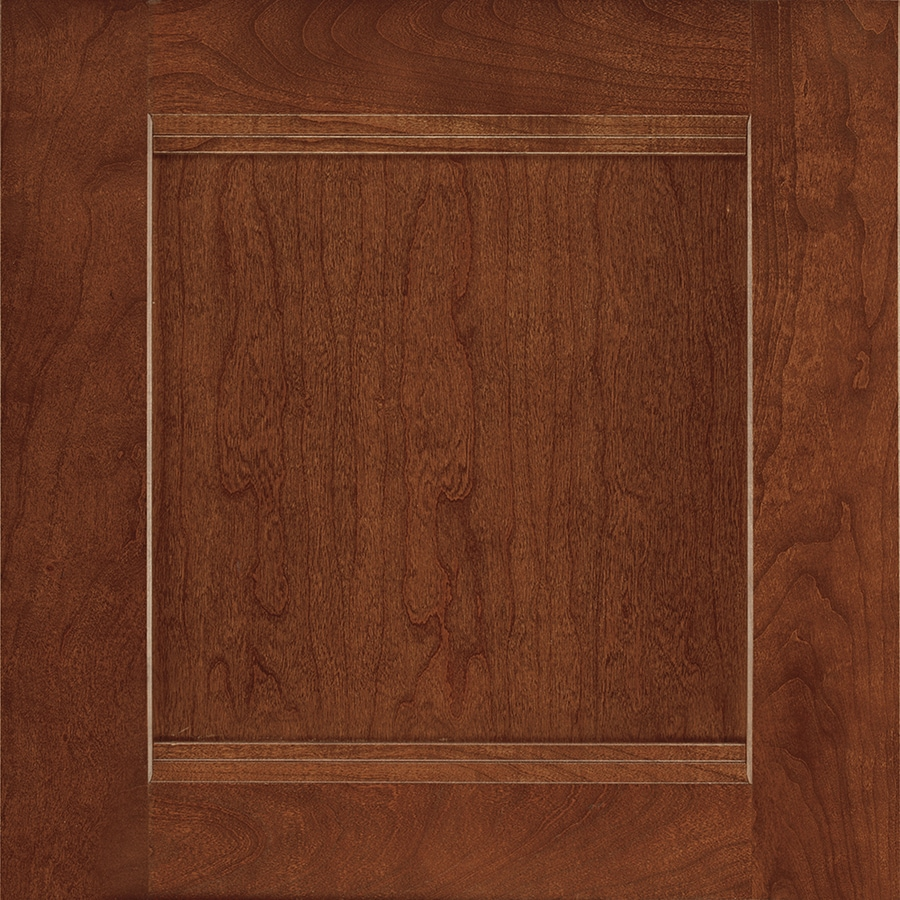 Shenandoah Solana 14.5-in x 14.5625-in Spice Cherry Square Cabinet Sample