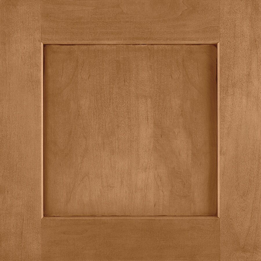 Shenandoah Mission 14.5-in x 14.5625-in Mocha Glaze Maple Square Cabinet Sample