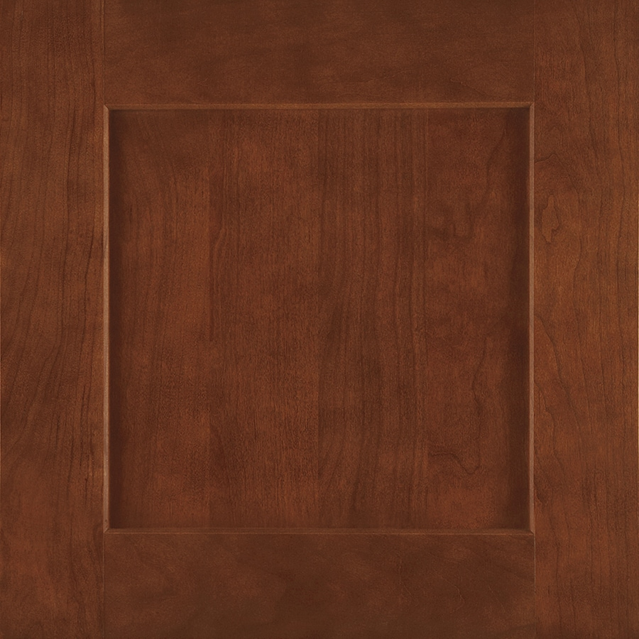 Shenandoah Mission 14.5-in x 14.5625-in Spice Cherry Square Cabinet Sample