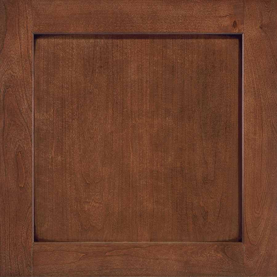 Shenandoah Breckenridge 14.5-in x 14.5-in Chocolate Glaze Stained Cherry Square Cabinet Sample