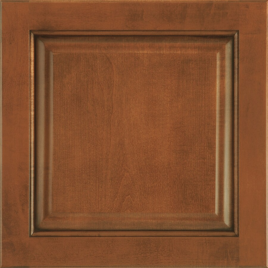 Shenandoah Orchard 14.5625-in x 14.5-in Auburn Glaze Maple Raised Panel Cabinet Sample