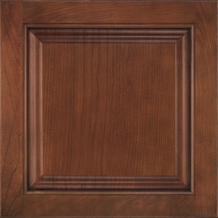 Shenandoah Orchard 14.5625-in x 14.5-in Chocolate Glaze Cherry Raised Panel Cabinet Sample