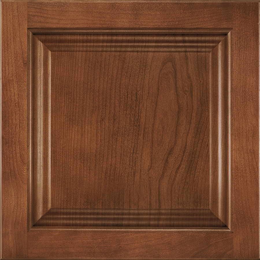 Shenandoah Orchard 14.5-in x 14.5625-in Spice Cherry Square Cabinet Sample