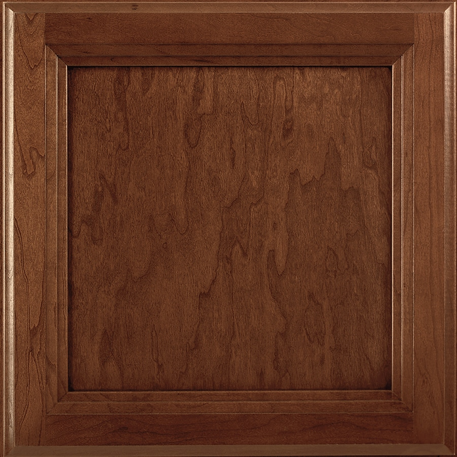 Shenandoah Dominion 14.5-in x 14.5625-in Chocolate Glaze Cherry Square Cabinet Sample