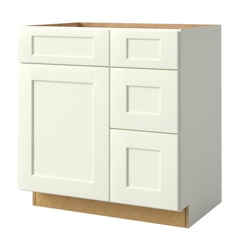 allen + roth Aveley 36-in Linen-Mirror Bathroom Vanity Cabinet