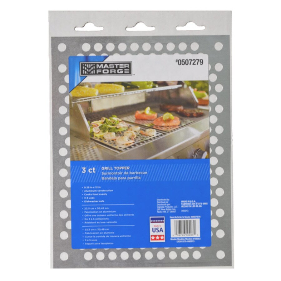 Shop Master Forge 3-Pack Aluminum Grill Sheets at Lowes.com