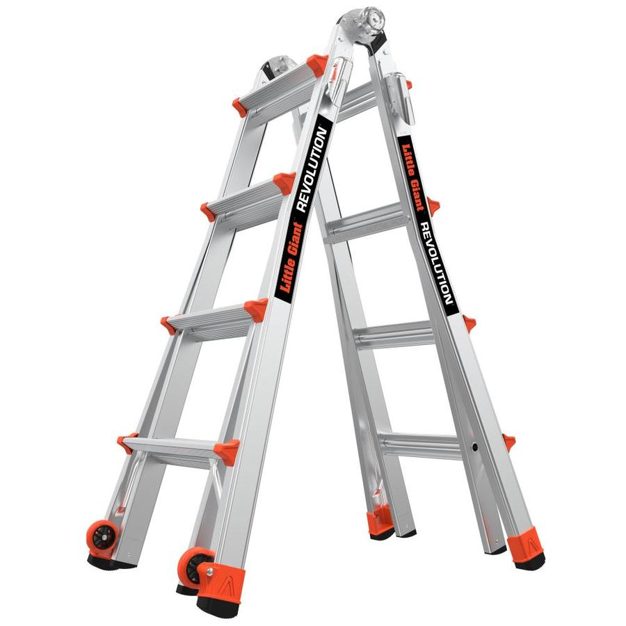 Shop Little Giant Ladders Revolution Aluminum 17 Ft Reach