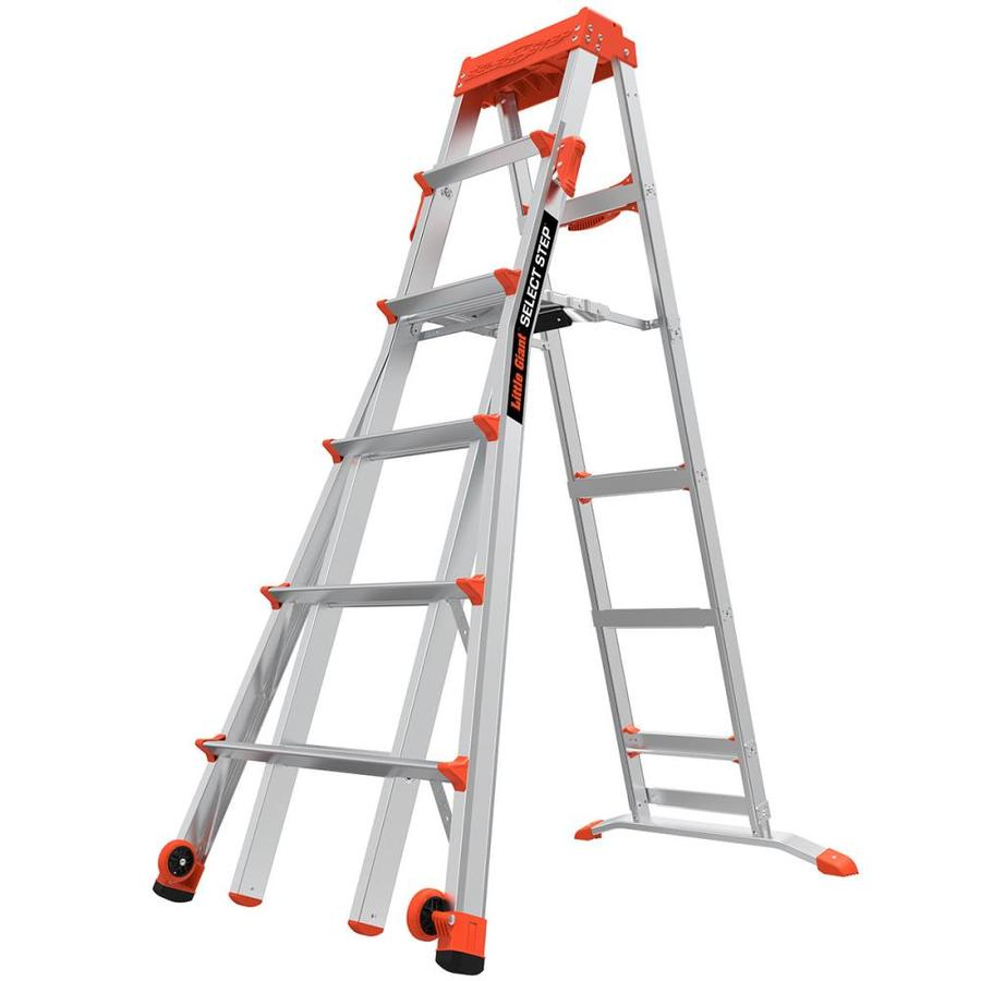 Little Giant Ladders 10-ft Aluminum Type 1A - 300 lbs. Telescoping Step Ladder