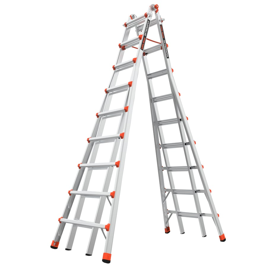 Little Giant Ladders 17-ft Aluminum Type 1A - 300 lbs. Telescoping Step Ladder