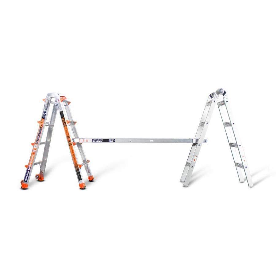 Collapsible Ladder 10 Ft : Shop little giant ladders telescoping plank ft to