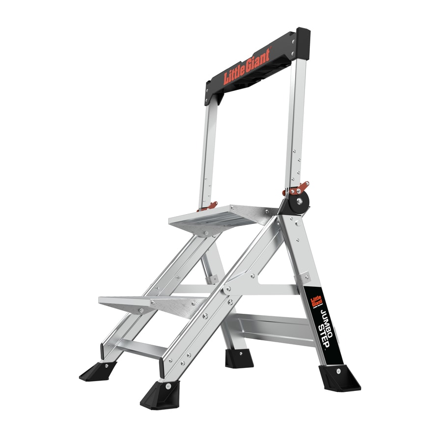 Little Giant Ladders 2 Step 375 Lb Capacity Silver