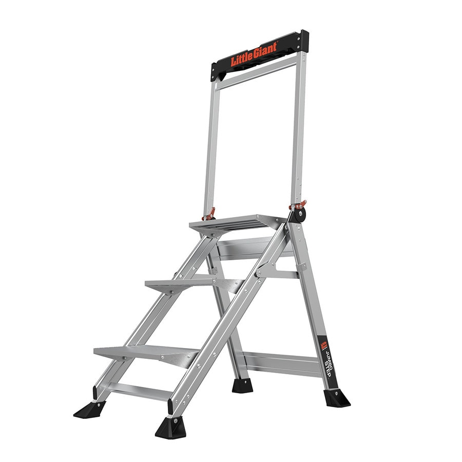 Little Giant Ladders 3 Step 375 Lbs Capacity Silver