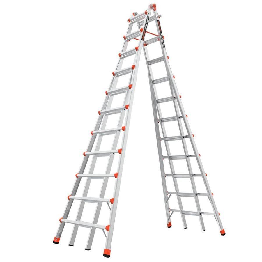 Little Giant Ladders 21-ft Aluminum Type 1A - 300 lbs. Telescoping Step Ladder