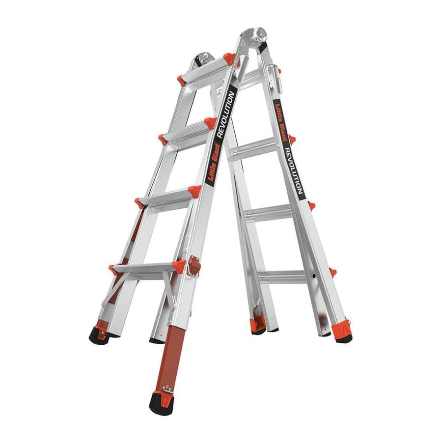 Little Giant Ladders Revolution With Ratchets Aluminum Type 1A 300-lb. Telescoping Ladder