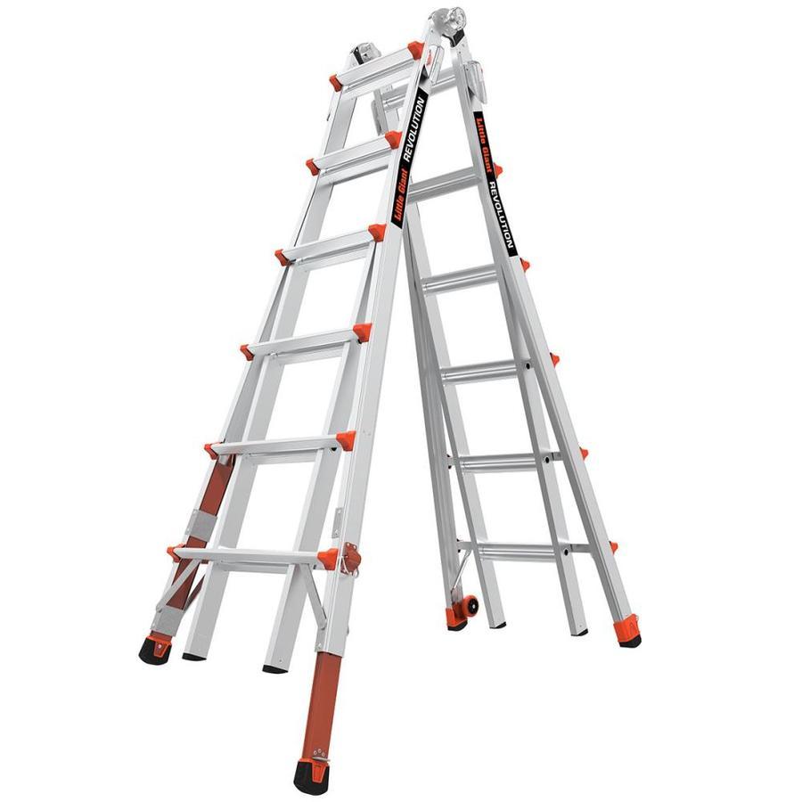 Little Giant Ladders 26-ft Aluminum 300-lb Telescoping Type IA Multi-Position Ladder