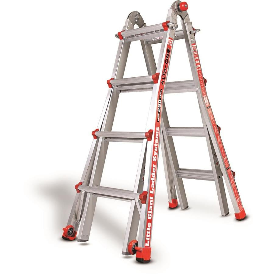 Little Giant Ladders 17-ft Aluminum 250-lb Telescoping Type I Multi-position Ladder