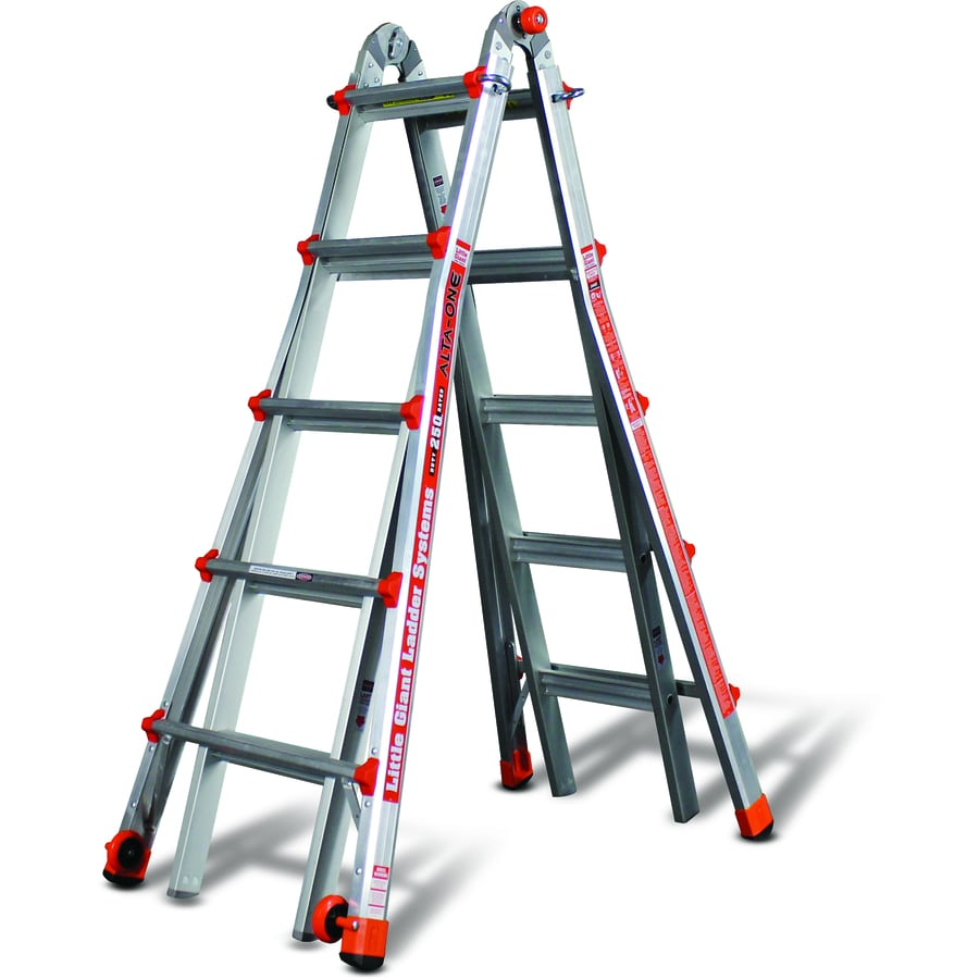Shop Little Giant Ladders Alta One Aluminum 22 Ft Reach