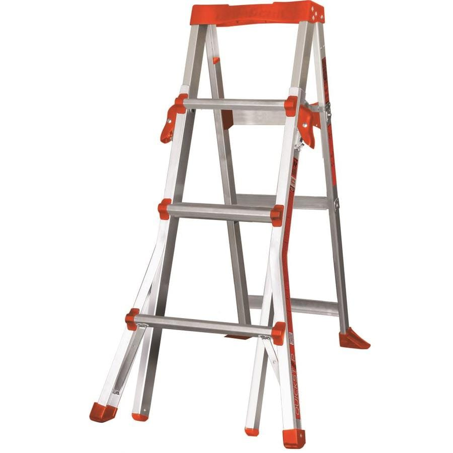 Little Giant Ladders 6-ft Aluminum Type 1A - 300 lbs. Telescoping Step Ladder