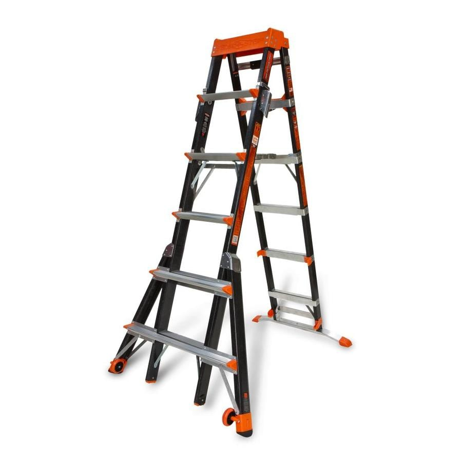 Collapsible Ladder 10 Ft : Shop little giant ladders ft fiberglass type aa
