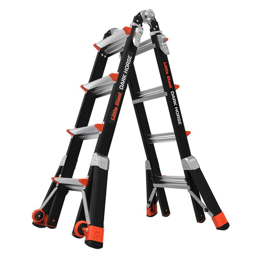 shop little giant ladders dark horse fiberglass 18 ft type. Black Bedroom Furniture Sets. Home Design Ideas