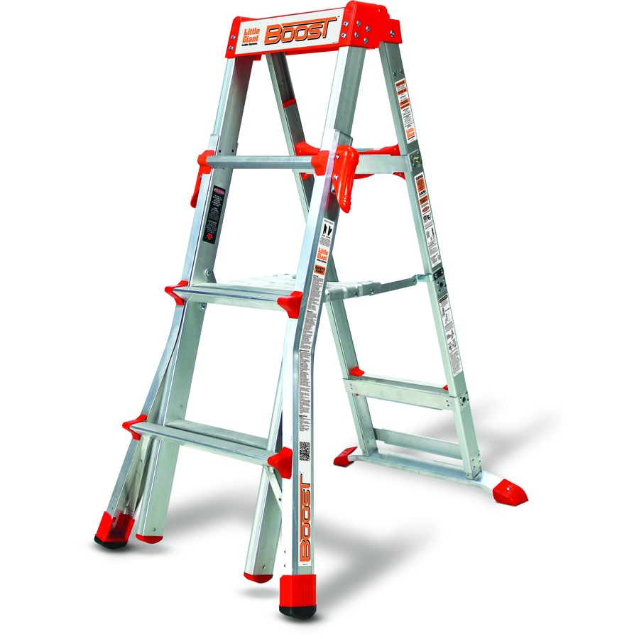 Little Giant Ladders 6-ft Aluminum 300-lb Telescoping Type IA Step Ladder