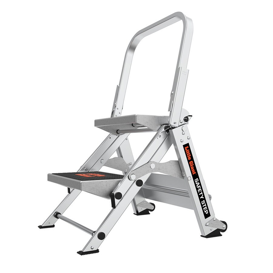 Little Giant Ladders 2 Step 300 Lbs Capacity Silver