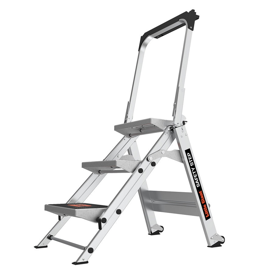 Shop Little Giant Ladders 3 Step 300 Lb Capacity Silver
