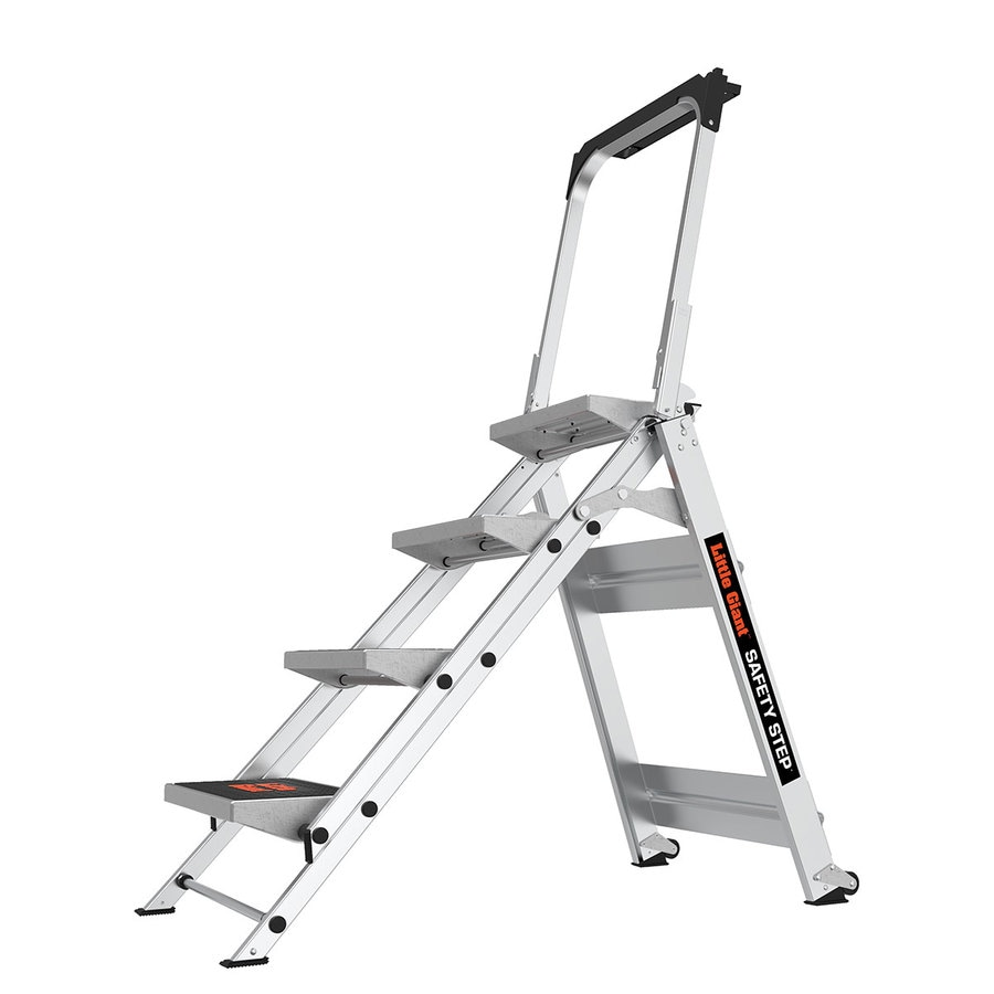 Shop Little Giant Ladders 4 Step 300 Lb Capacity Silver