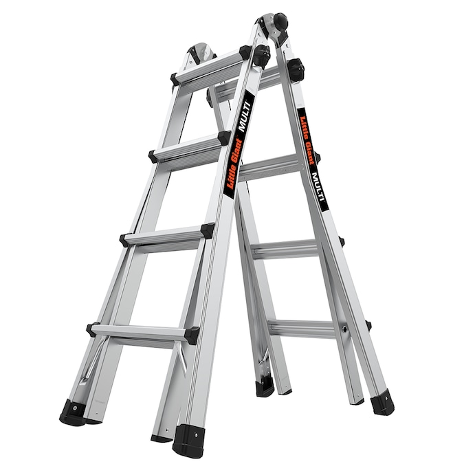 Little Giant Aluminum 18 Ft Reach Type 1a 300 Lbs Capacity Telescoping Multi Position Ladder In The Multi Position Ladders Department At Lowes Com