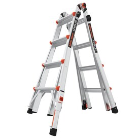 Little Giant Leveler Aluminum 18-ft Reach Type 1A - 300 lbs. Capacity Telescoping Multi-Position Ladder