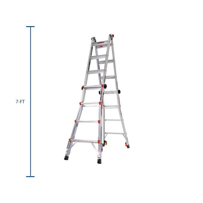 Little Giant Leveler Aluminum 18 Ft Reach Type 1a 300 Lbs Capacity Telescoping Multi Position Ladder In The Multi Position Ladders Department At Lowes Com