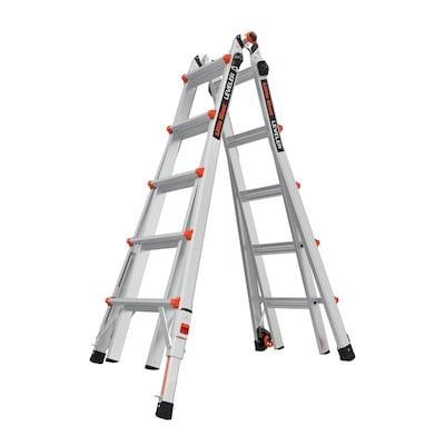 Little Giant Ladders Leveler Aluminum 22-ft Reach Type 1A - 300 lbs. Capacity Telescoping Multi-Position Ladder
