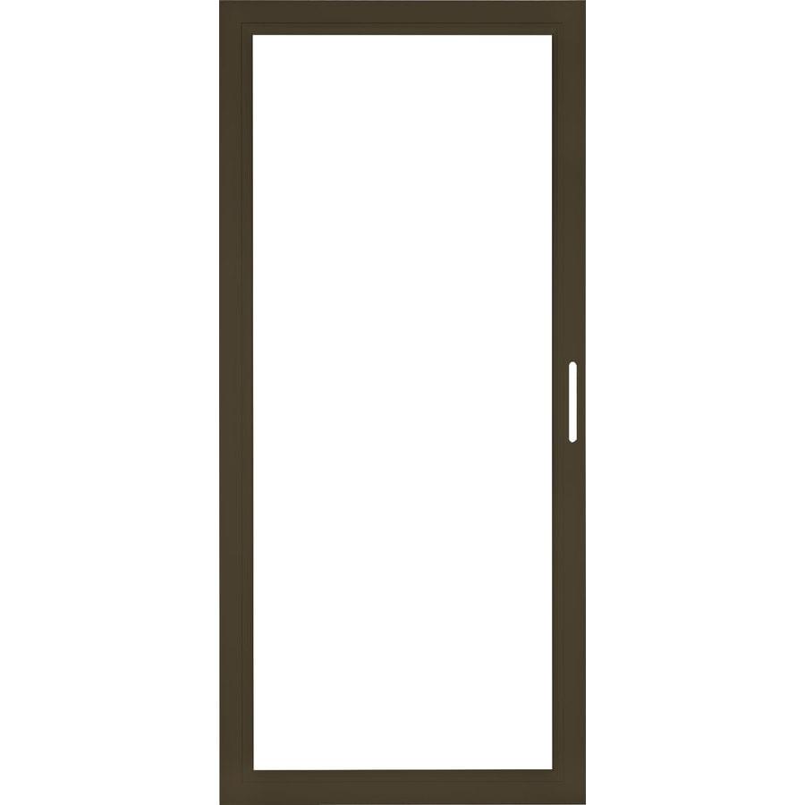 Shop Pella Select Aluminum 36 In X 81 In Brown Storm Door Frame At
