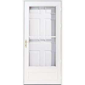 Pella Helena Mid View Wood Core Storm Door With Retractable Screen (Common:  36