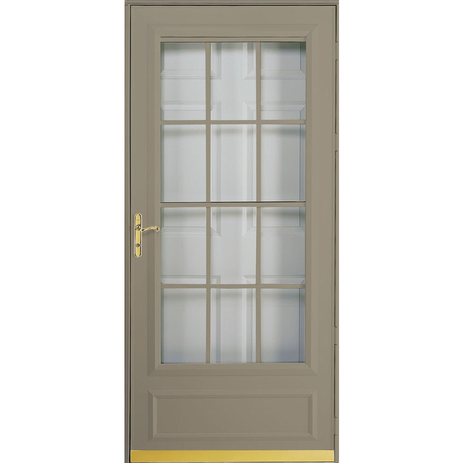 Shop Pella Cheyenne Putty Mid View Safety Retractable Screen Storm