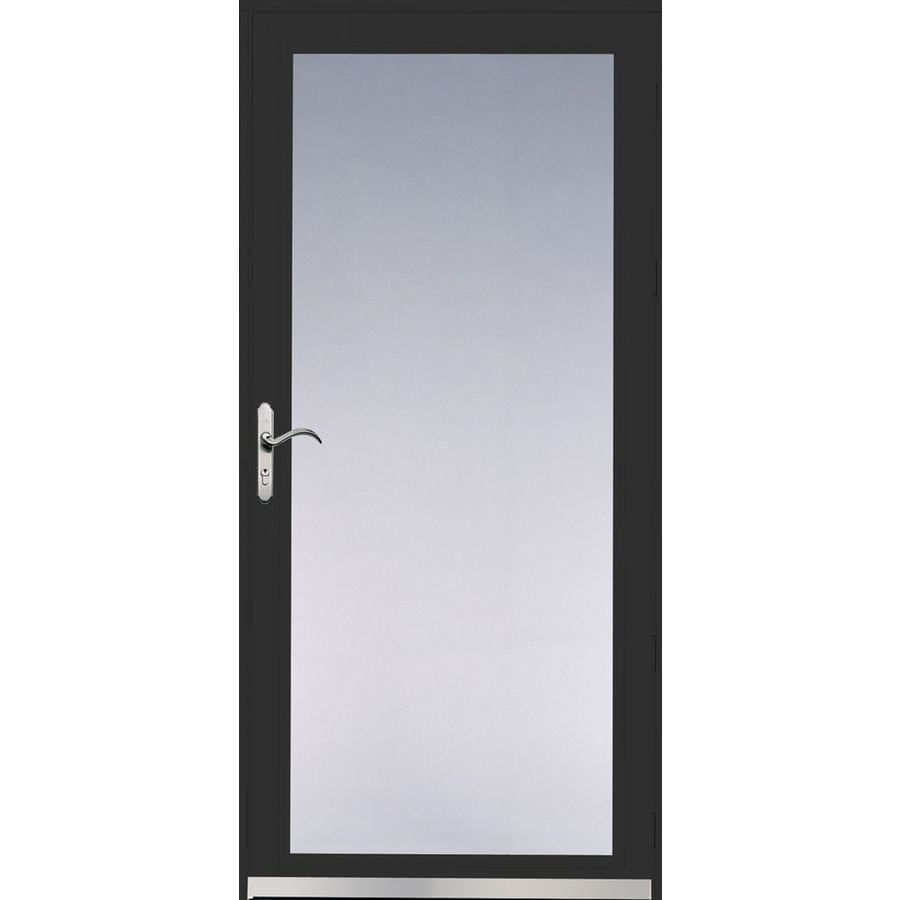Pella Ashford Black Full-View Safety Glass and Interchangeable Screen Storm Door (Common: 32-in x 81-in; Actual: 31.75-in x 79.875-in)