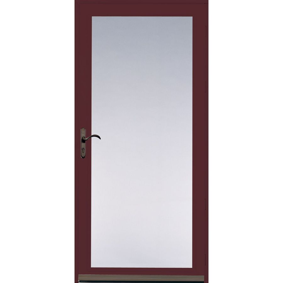 Shop Pella Ashford Cranberry Full View Safety Glass And
