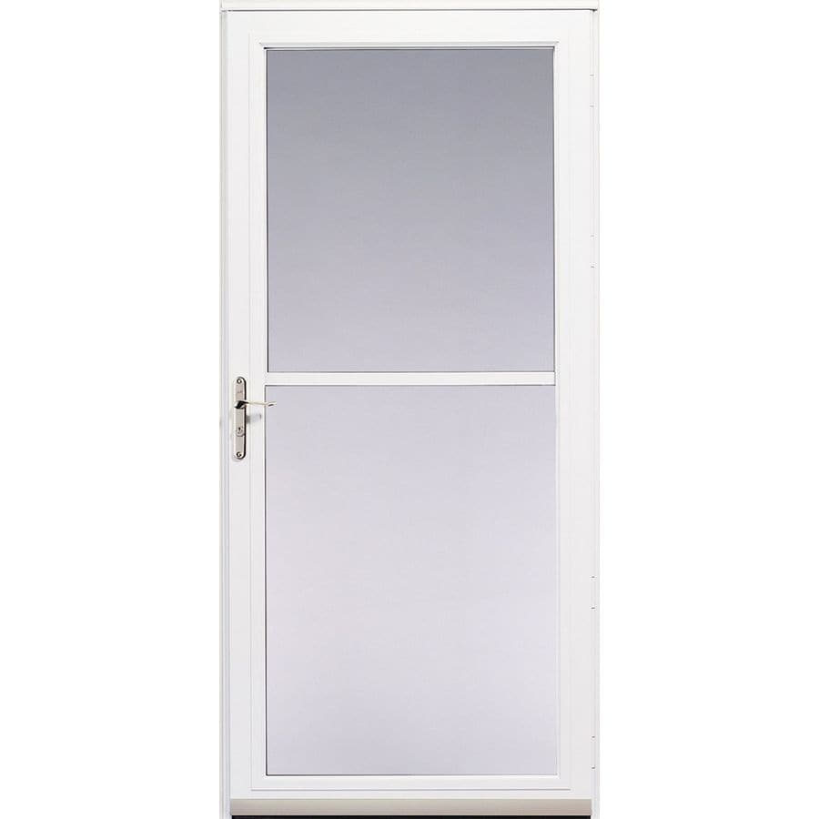 Pella White 3800 Series Full-View Safety Storm Door