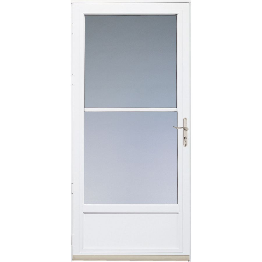 Pella White Hartford Mid View Safety Storm Door At Lowes Com