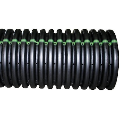 ADS 4-in x 10-ft Corrugated Perforated Pipe at Lowes com