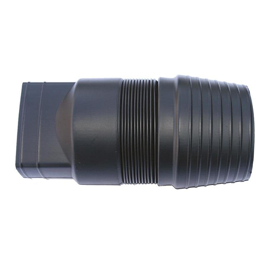 Shop bend a drain in dia corrugated downspout adapter