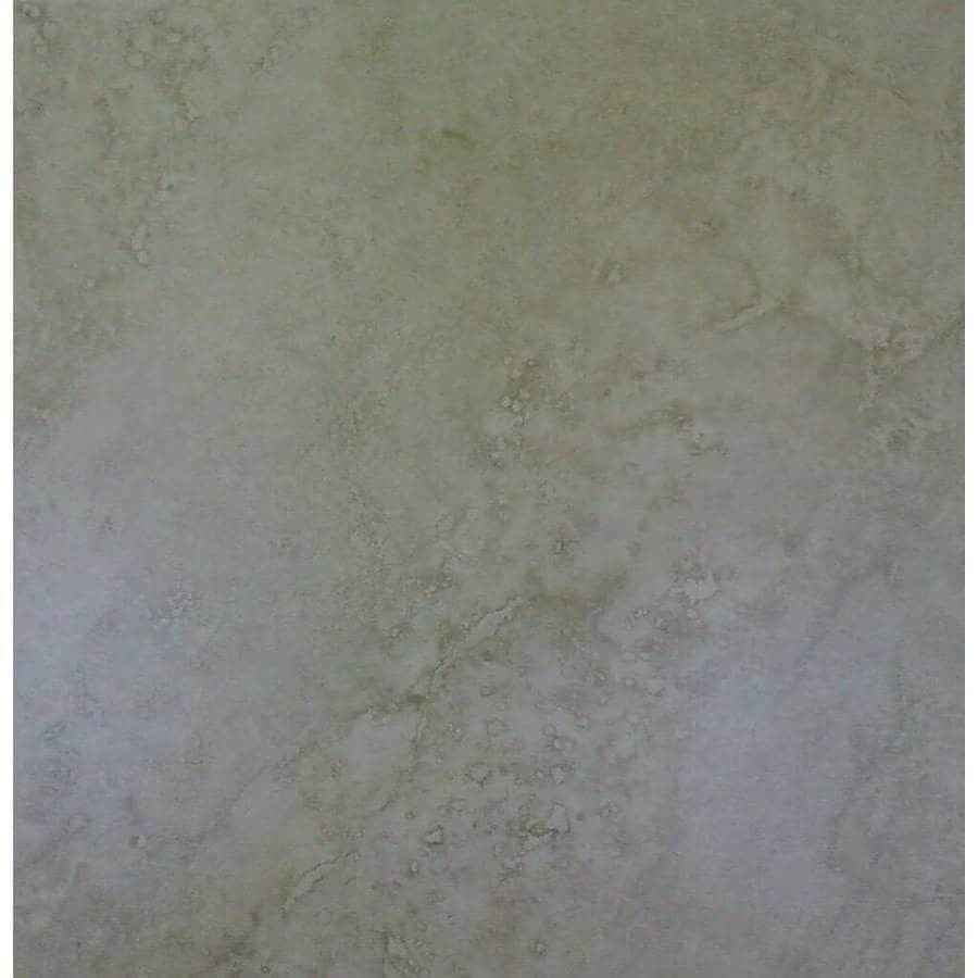 Shop surface source 18 in x 18 in ravello beige glazed porcelain surface source 18 in x 18 in ravello beige glazed porcelain floor tile doublecrazyfo Choice Image