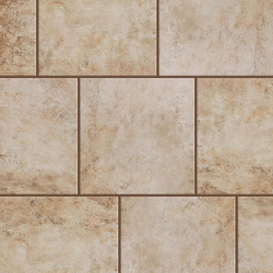 Shop style selections mesa beige porcelain floor and wall tile common 12 in x 12 in actual - Lowes floor tiles porcelain ...