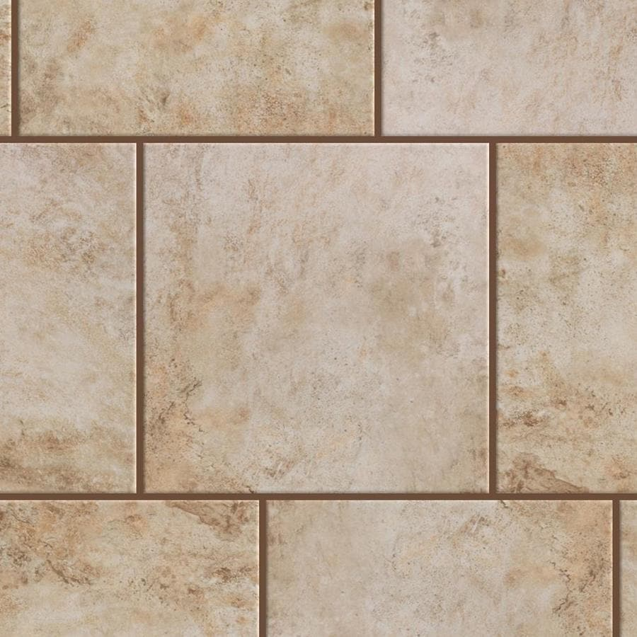 Shop style selections mesa beige porcelain floor and wall tile common 18 in x 18 in actual - Lowes floor tiles porcelain ...